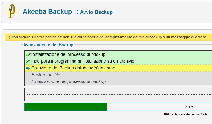 Tutorial Joomla: backup con Akeeba Backup
